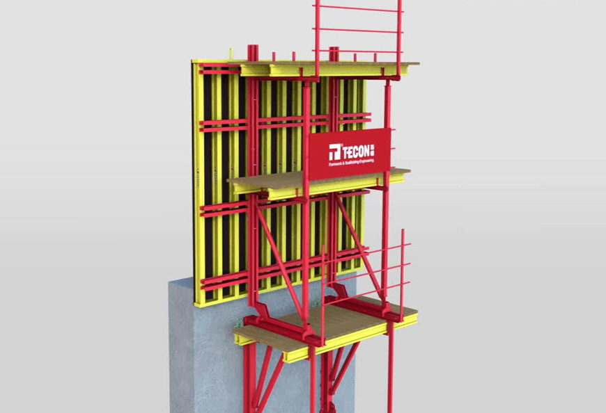 Multi-function Climbing formwork MB180 can climb via both crane and hydraulic cylinder