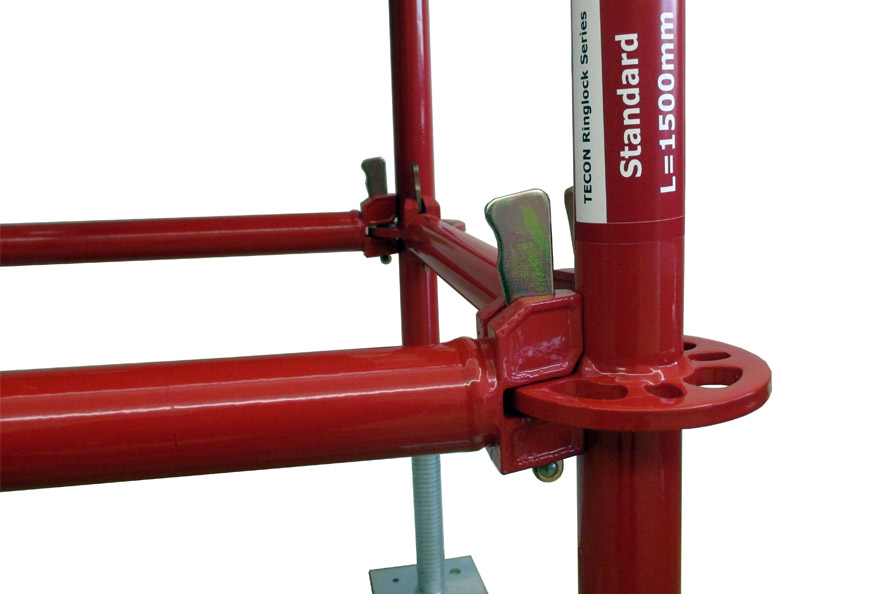 Tecon Ringlock Scaffolding is a Versatile System for Both Shoring Support and Work Platform Purpose