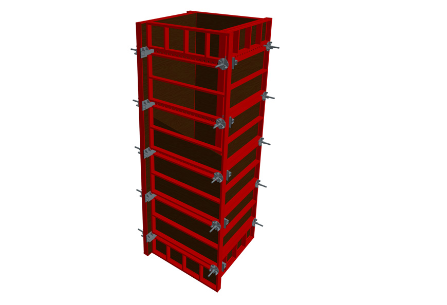 TECON Adjustable HETO Frame Column formwork assembly drawing